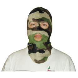 Cagoule polaire camouflage 3 trous operation militaire camouflage securite cagoules