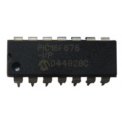 Microchip pic16f676 microcontroller 8-bit ip chip flash