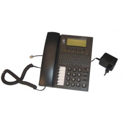 Phone with a built in qwerty keypad for sending and receiving of sms via tel. line or gsm module