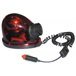 Flashing light with siren 12v 21w magnetic rotating beacon lights turning red water drop loving