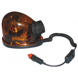 Magnetic beacon 12v 21w amber beacon light with siren drop water loving turning lights