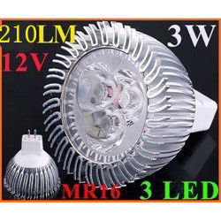 Lampadina 3 led 12v 3w mr16