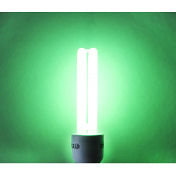 Isotronic energiesparlampe partylight e27 15w 75w grün