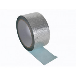 Reinforced aluminium tape 50mm x 10m permanent sealing splicing and masking applications