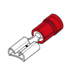 Female connector 4.8mm red frf4/100