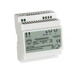 Switching power supply 60w 24vdc din psin06024d
