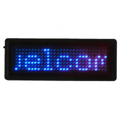 Badge blue led programmable 5 characters 29 x 7 dot matrix display 5 digit business card b729tsb