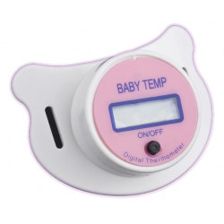 Thermometre medical lcd tetine bebe rose electronique thermometres medicaux electroniques