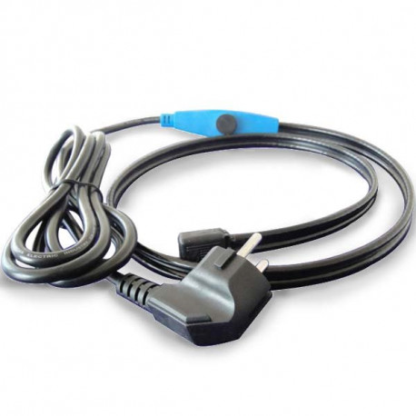 Antifreeze electric heating cable cord 12m shpt-12m pipe frost protection with water hose thermostat