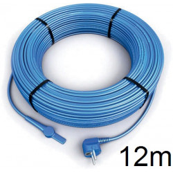 12m antifreeze electric heating cable cord aquacable-12 pipe frost protection with water hose thermostat
