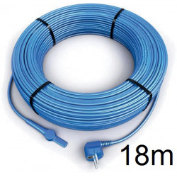 18m antifreeze electric heating cable cord aquacable-18 pipe frost protection with water hose thermostat