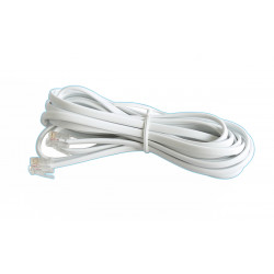 Cable telephone cable for telephone, rj11 to rj11 6p 4c, 3m