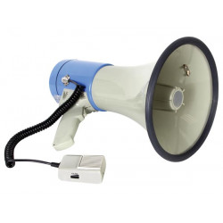 Megaphone 25w mp3 vocal pour carte sd et usb mp25fmu microphone démontable sirene 20w 22w