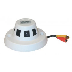 Ccd video monitoring camera colour 12v with objective in the smoke detector video monitoring camera