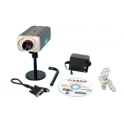 Camera 1 3'' color camera for the web with an ip address, 12vdc video surveillance system web camera with ip address video surve