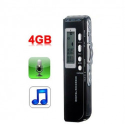 Digital voice recorder 4gb micro mp3 + analog + high quality recording phone option