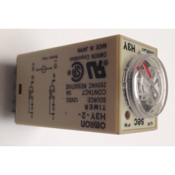 Omron relay 12v 5a h3y-2 timer 1 min to 60 min 230v 240v 2 no / nc in work or rest