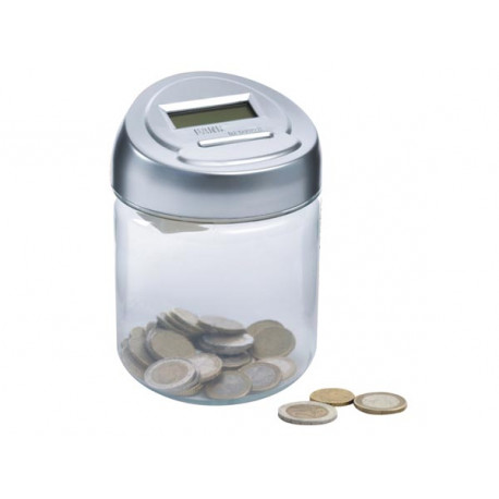 Piggy bank cdet1 digital counter counting currency euro cdet1