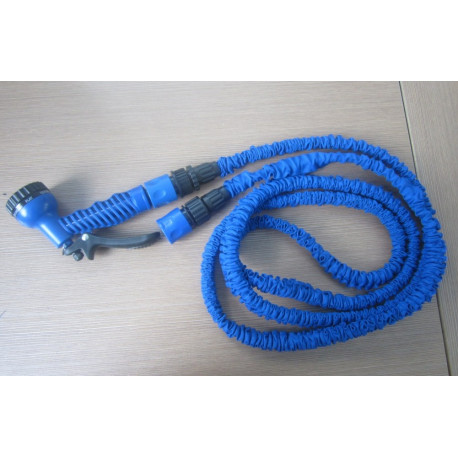 Extensible hose watering hose 50 feet 4 jets spray gun retractable retracts xhose own home garden