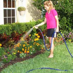 Extensible hose watering hose 75 feet  4 jets spray gun retractable retracts xhose own home garden
