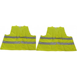 2 reflective vest size xl 471 class 2 in yellow vests visibility road safety improvement