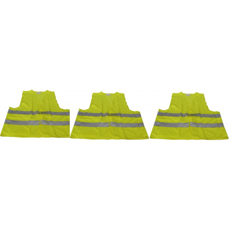 3 reflective vest size xl 471 class 2 in yellow vests visibility road safety improvement