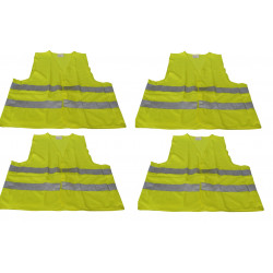 4 reflective vest size xl 471 class 2 in yellow vests visibility road safety improvement