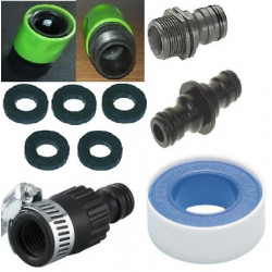 Garden faucet adapter kit extension gardena © 5 o x teflon hose connection extensible hose
