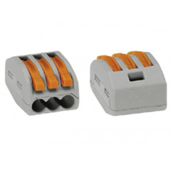 Connection terminal 3 x 0.08-4mm for rigid conductors or gray