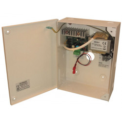 Dc regulated power supply 3000ma(3a) regulated wall mount metal case type, power input: ac220v built in dc12v battery charger,