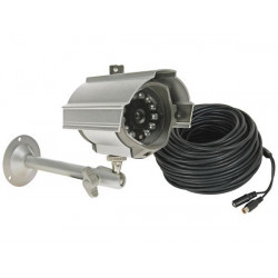 Weatherproof 1 3' ir colour ccd camera with b w night vision