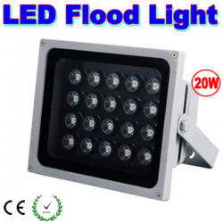 20w led floodlight cool white 6500k with 20 led 1w super powerful 110v and 220v