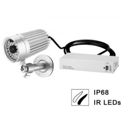 Waterproof 1 3'' ir b w ccd camera with night vision