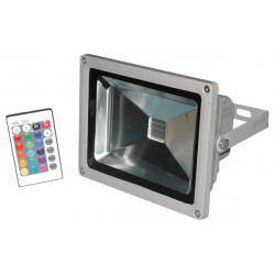 Led floodlight 20w rgb red green blue with memory and remote control 220v 110v outdoor ip65