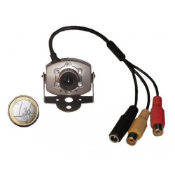 Camera noir blanc 9v 10v 11v 12v 1/4 objectif video 3,6mm audio led infrarouge nocturne discrete