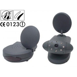 Transmitter receiver 2.4ghz wireless b w camera without microphone, 10mw 100m + 4 channel receiver video transmitters receivers