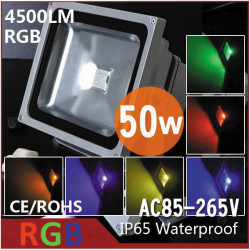 Led floodlight 50w rgb red green blue with memory and remote control 220v 110v outdoor ip65