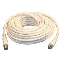 Tv cable 10m white with adapter 9.5 tv cable tv extension cord for tv