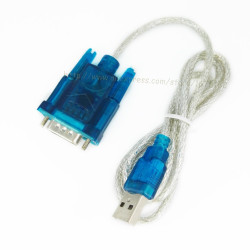 Cable de conversion usb vers rs232 db9 serie 9 pin 0.80m 3 feet cable-146/2 HL-340