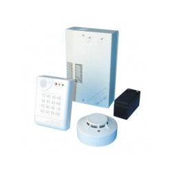 Alarm pack electronic with smoke detector + telephone transmitter alarm pack alarm pack electronic alarm pack security protectio