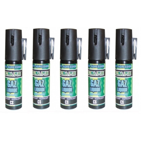 5 spray gas paralizzante bomboletta lacrimogena cs x 2% 25ml modello piccolo spray anti agressione