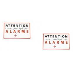 2 etiquettes signalisation adhesive sticker alarme securite autocolant dissuasive protection