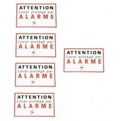 5 adhesive labels signaling security alarm sticker autocolant deterrent protection