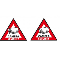 2 adhesive labels deterrent panel sticker st cs sec security camera monitoring sticker
