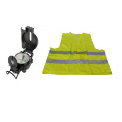 Hq metal liquid compass military look and reflective vest size xl 471 class 2 in yellow vests visibility road safety improvement