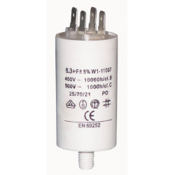 Capacitor 6 mf 6.3 micro farad 450v 50 60 hz universal motor start capacitor with terminal w1 11006
