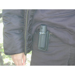 Holster for 50ml aerosol – elastic – without flap for self defense spray gazpm gelpm gppm security defense