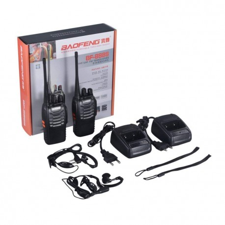 2 Talkie walkie 446mhz batterie rechargeable chargeur 16 Canaux UHF 400-470 MHz Baofeng BF-888S