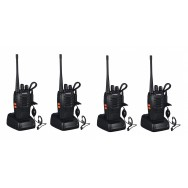 4 Talkie walkie 446mhz batterie rechargeable chargeur 16 Canaux UHF 400-470 MHz Baofeng BF-888S