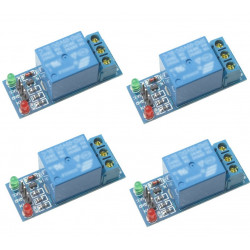 4 x 1-channel relay module for scm ,appliance control,single chip microcomputer 5v - 12v